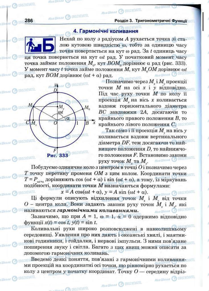 Підручники Математика 10 клас сторінка 286