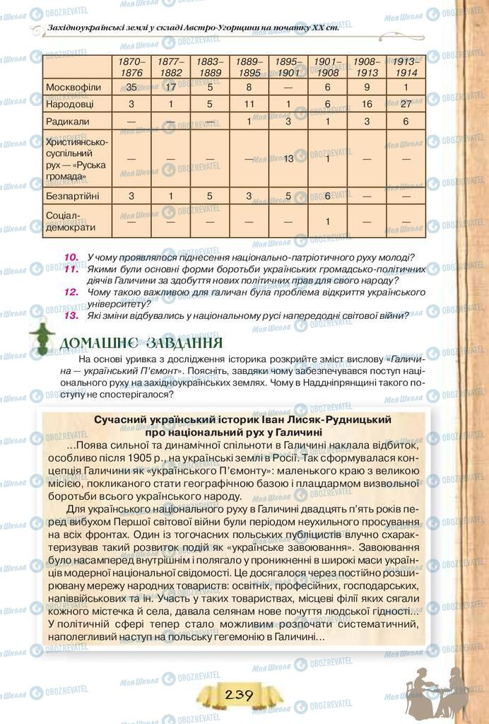 Учебники История Украины 9 класс страница  239