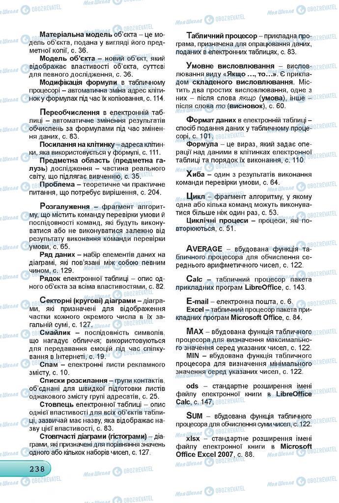 Підручники Інформатика 7 клас сторінка  238