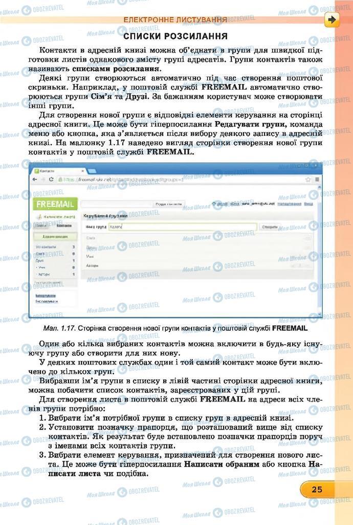 Підручники Інформатика 7 клас сторінка  25