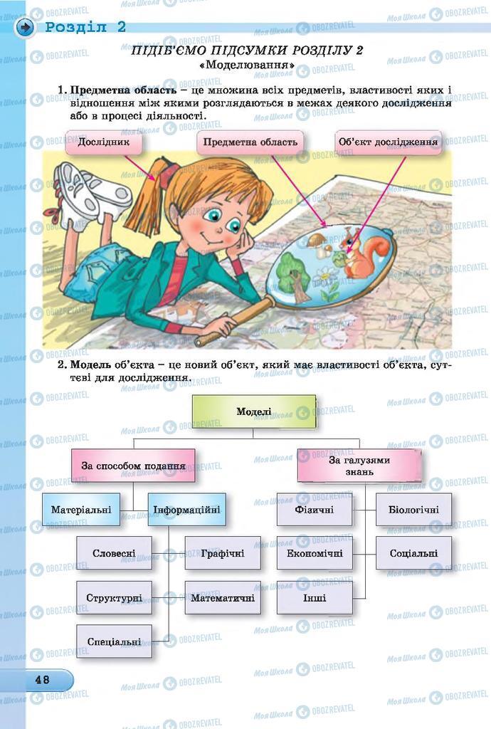 Підручники Інформатика 7 клас сторінка  48