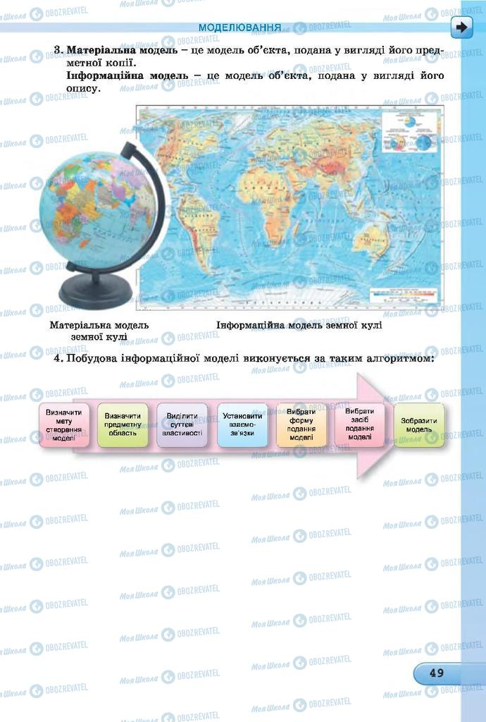 Підручники Інформатика 7 клас сторінка  49