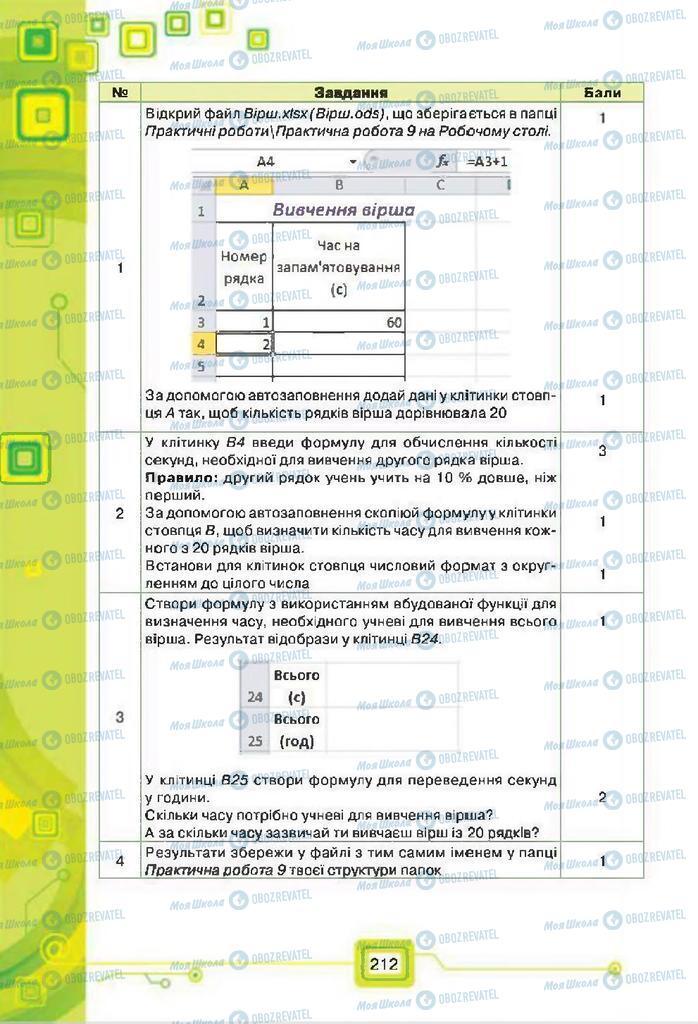 Підручники Інформатика 7 клас сторінка 212
