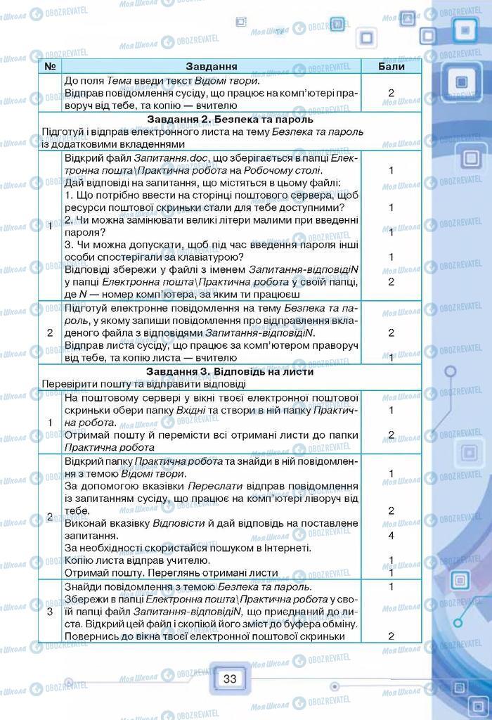 Підручники Інформатика 7 клас сторінка  33