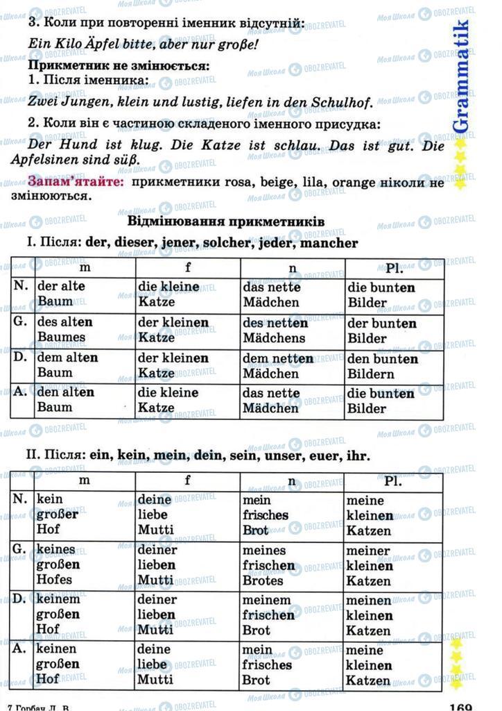 Учебники Немецкий язык 7 класс страница 169