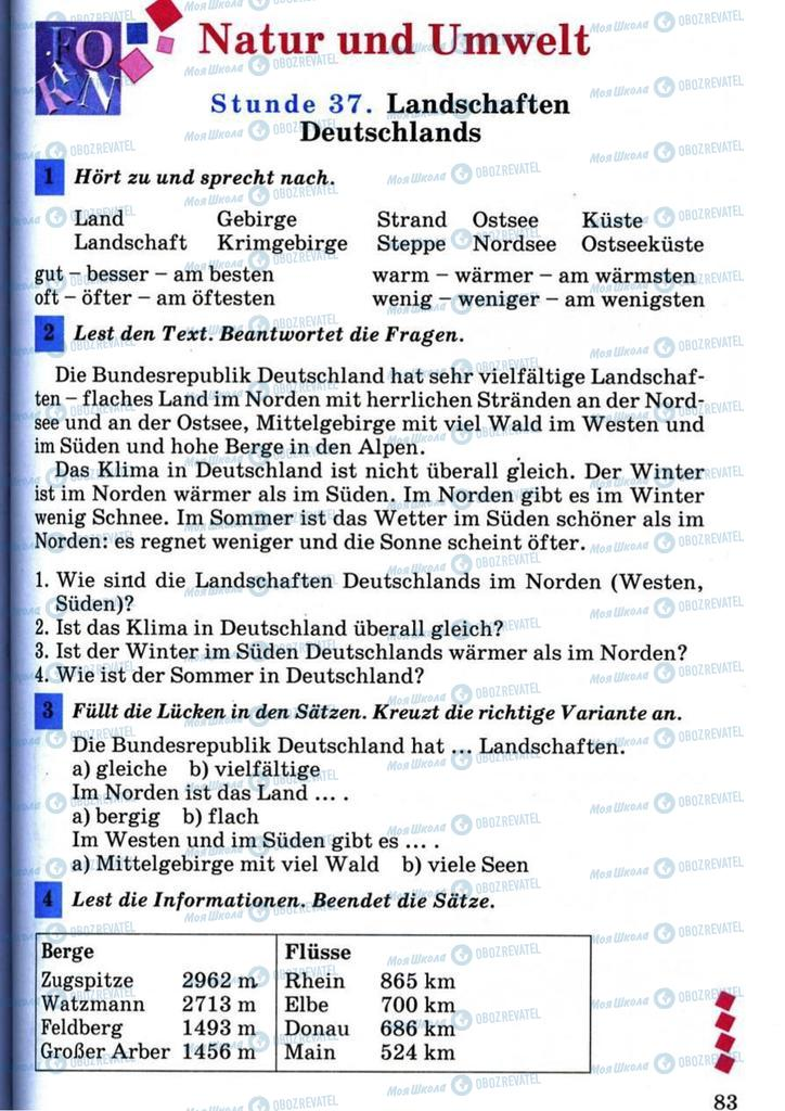 Підручники Німецька мова 7 клас сторінка 83