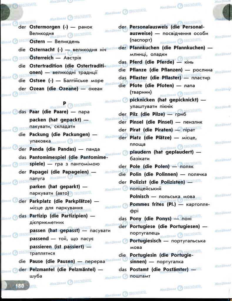 Підручники Німецька мова 7 клас сторінка  180