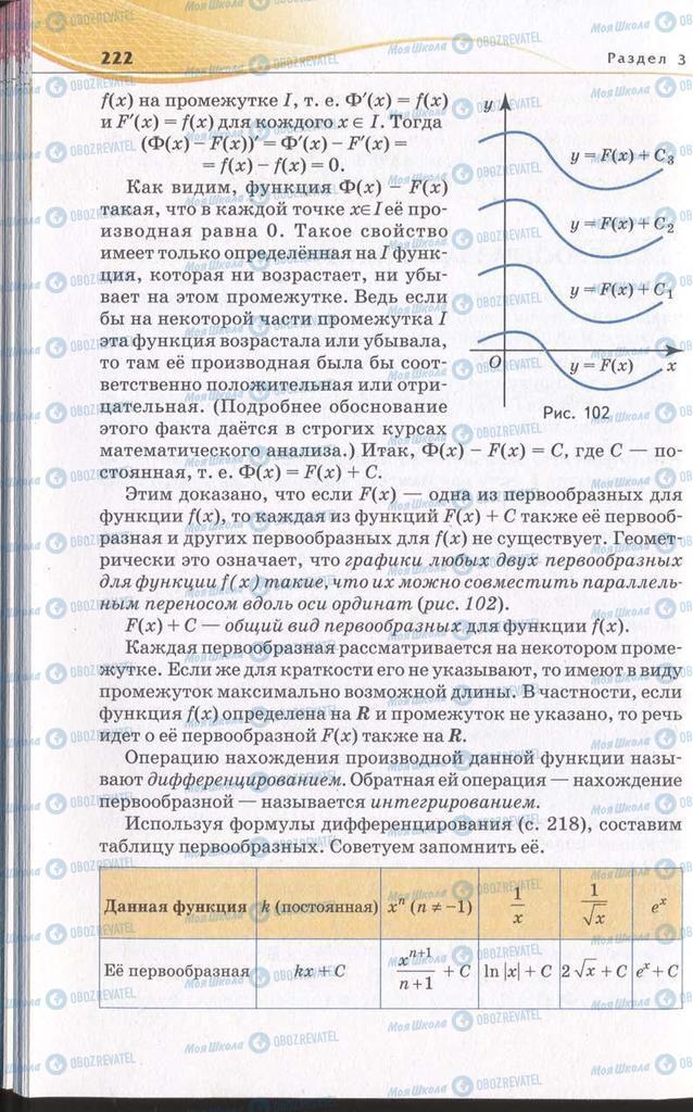 Підручники Алгебра 11 клас сторінка 222