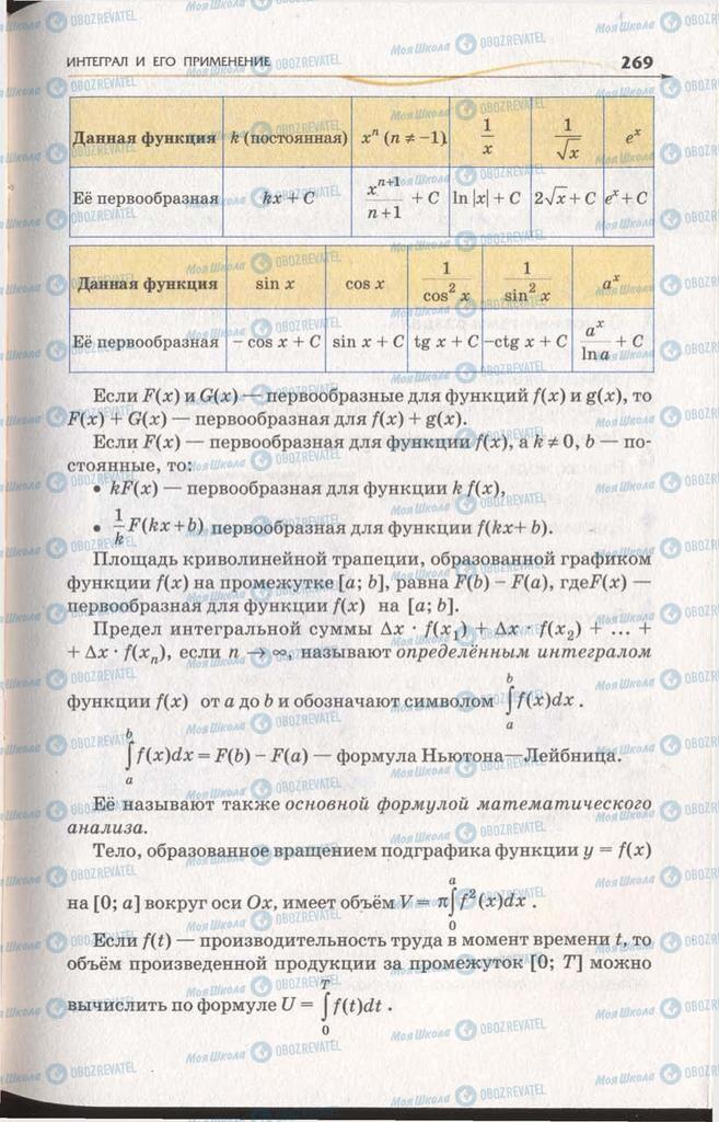 Підручники Алгебра 11 клас сторінка 269