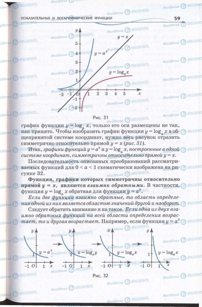 Підручники Алгебра 11 клас сторінка 59