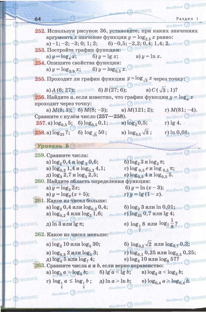 Підручники Алгебра 11 клас сторінка 64