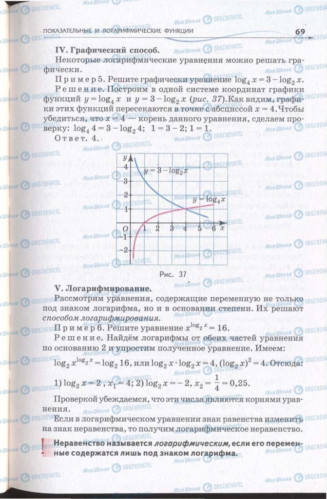 Підручники Алгебра 11 клас сторінка 69