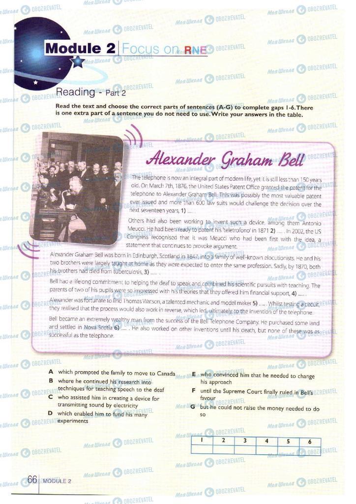 Підручники Англійська мова 11 клас сторінка 66