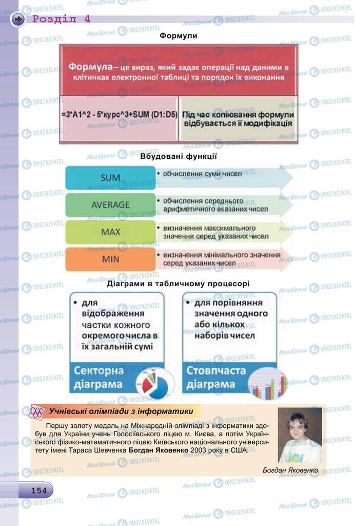 Підручники Інформатика 7 клас сторінка 154