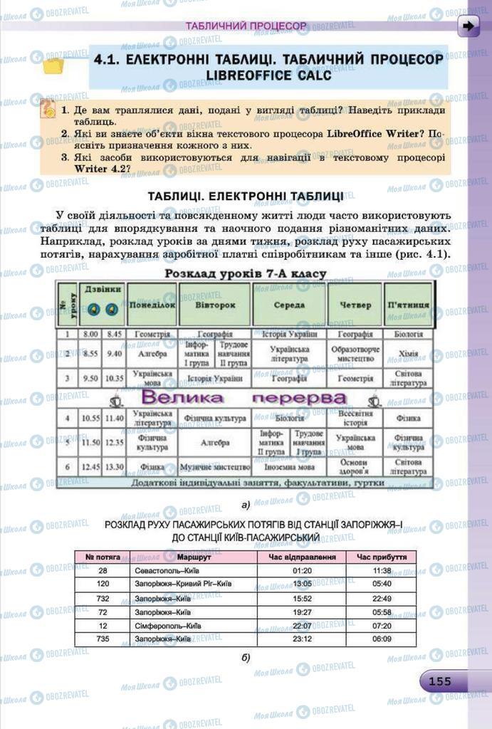 Підручники Інформатика 7 клас сторінка 155
