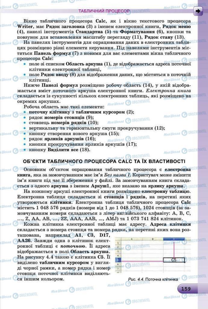 Підручники Інформатика 7 клас сторінка 159