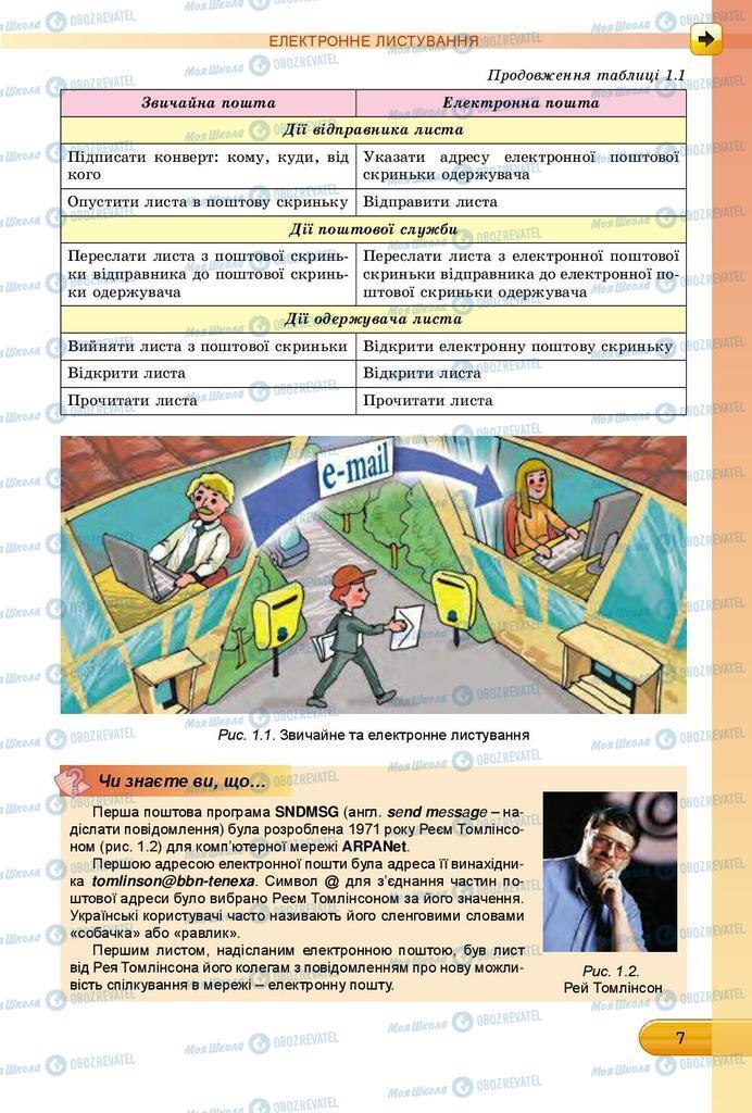 Підручники Інформатика 7 клас сторінка 7