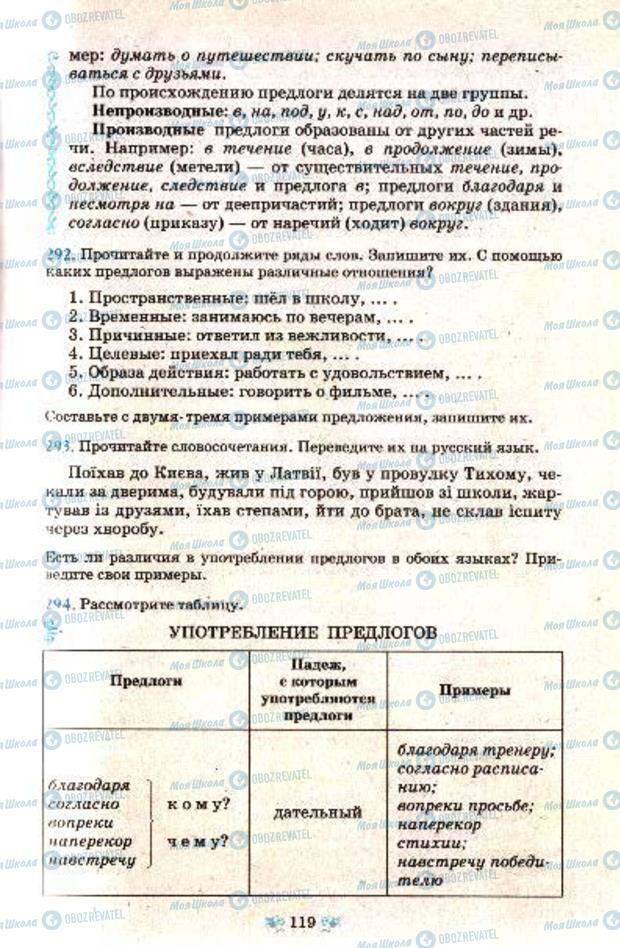 Підручники Російська мова 7 клас сторінка 119
