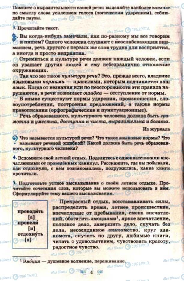 Учебники Русский язык 7 класс страница  4