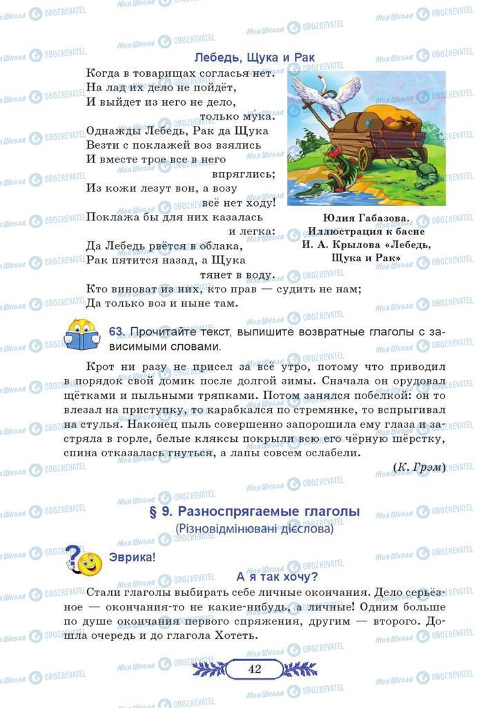 Учебники Русский язык 7 класс страница  42
