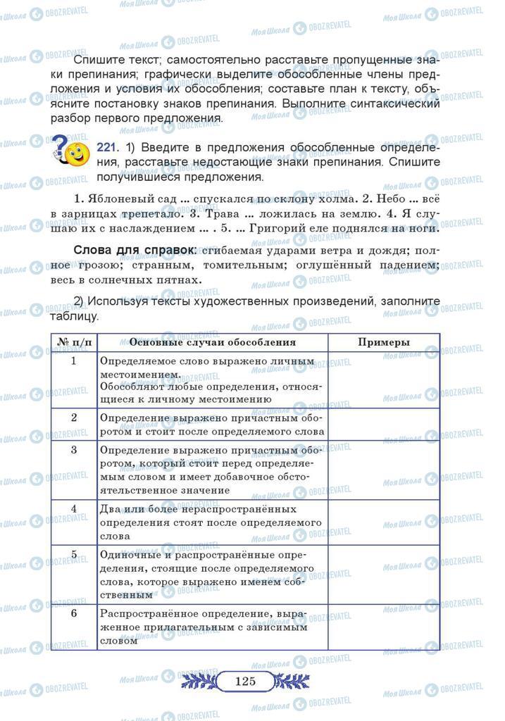 Учебники Русский язык 7 класс страница  125