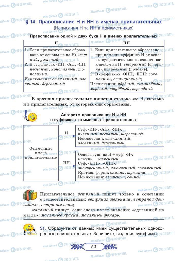 Учебники Русский язык 7 класс страница 52