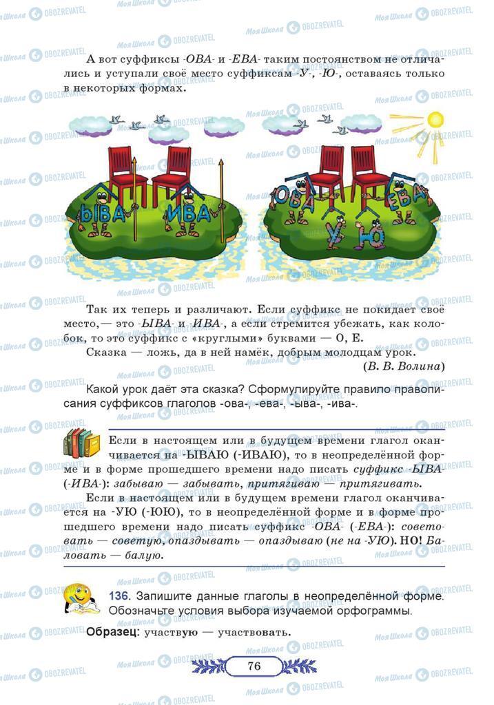 Учебники Русский язык 7 класс страница  76