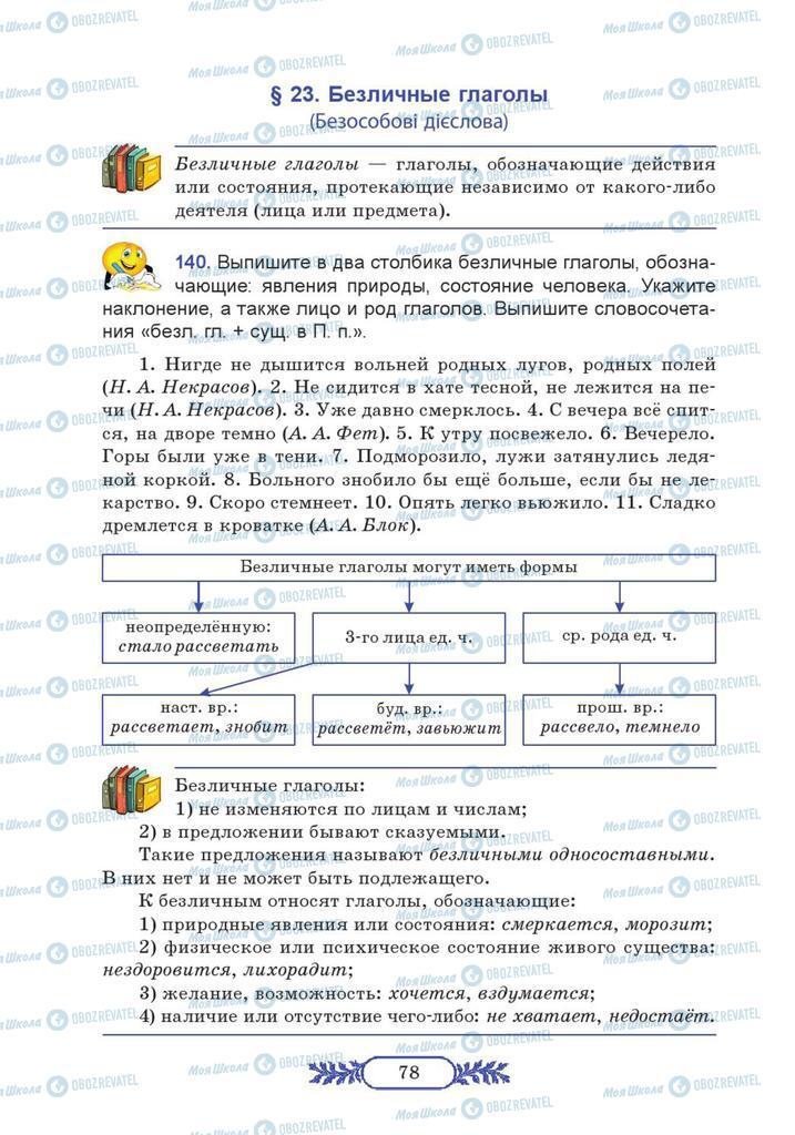 Учебники Русский язык 7 класс страница  78