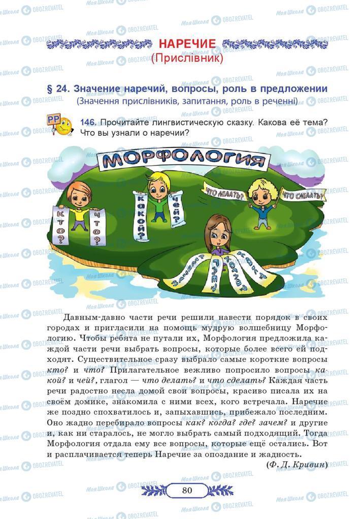 Учебники Русский язык 7 класс страница  80