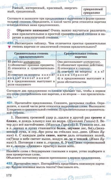 Підручники Російська мова 7 клас сторінка 172
