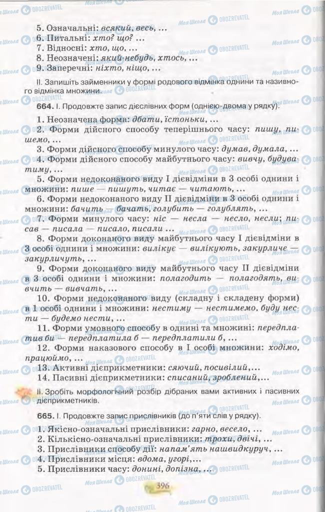 Учебники Укр мова 11 класс страница 396