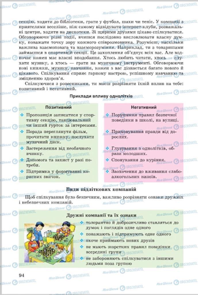 Учебники Основы здоровья 7 класс страница 94