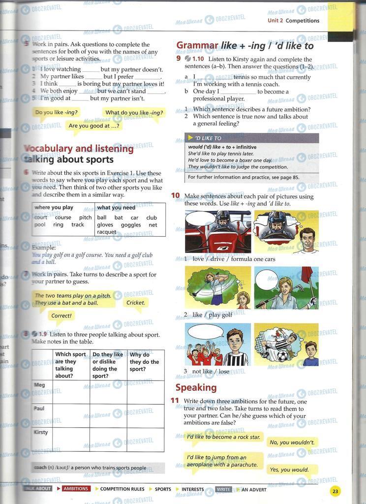 Підручники Англійська мова 11 клас сторінка 23