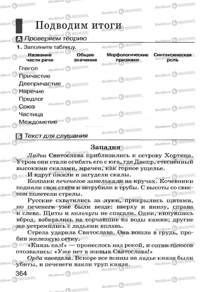 Учебники Русский язык 7 класс страница 364