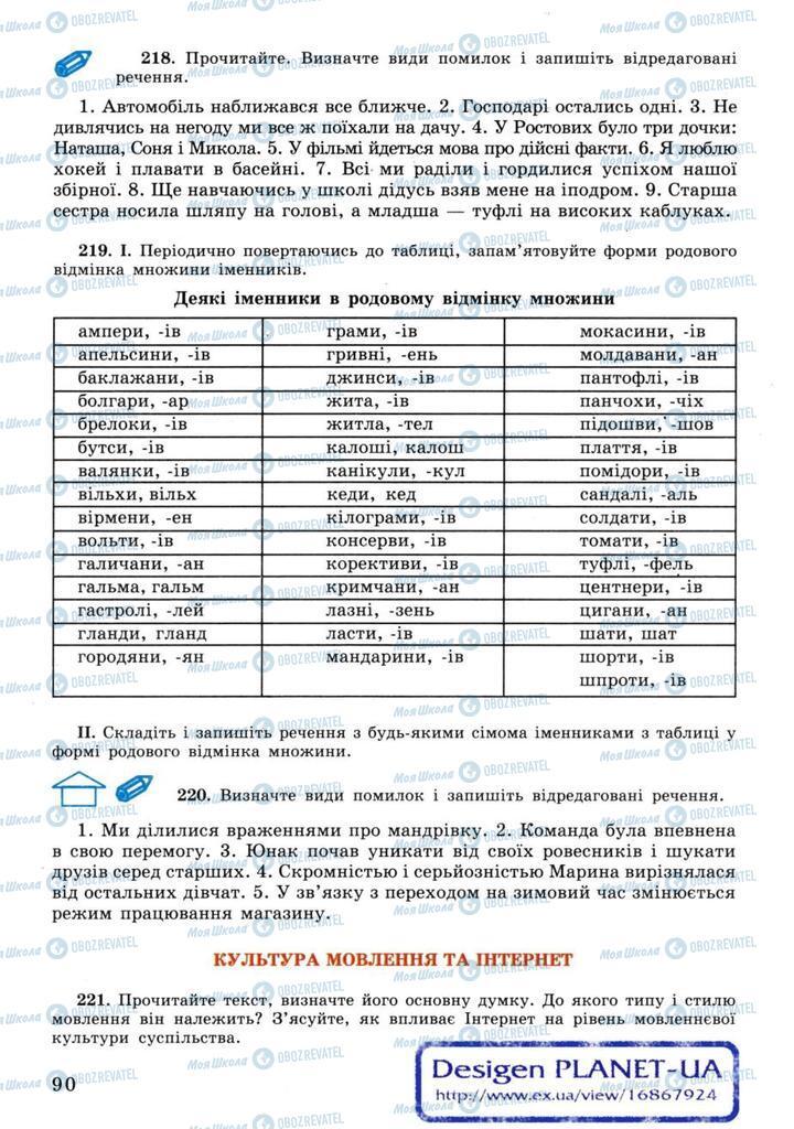 Учебники Укр мова 11 класс страница 90