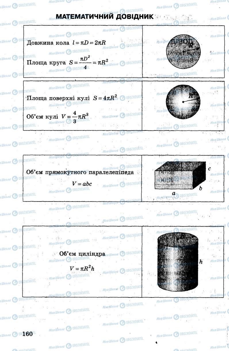 Підручники Фізика 7 клас сторінка 160