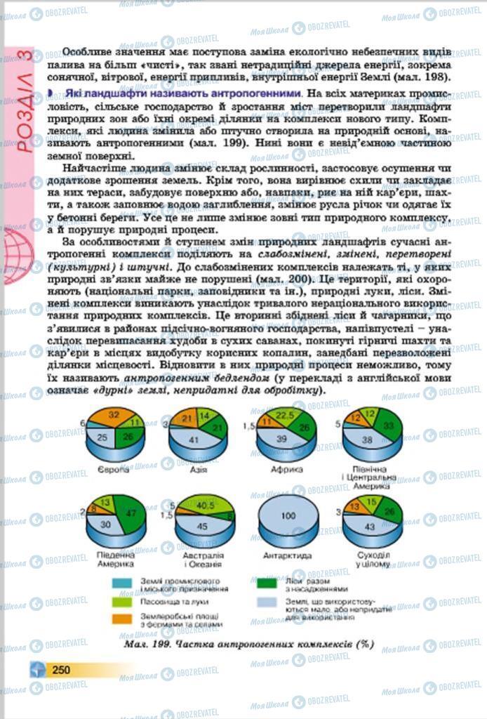 Підручники Географія 7 клас сторінка  250