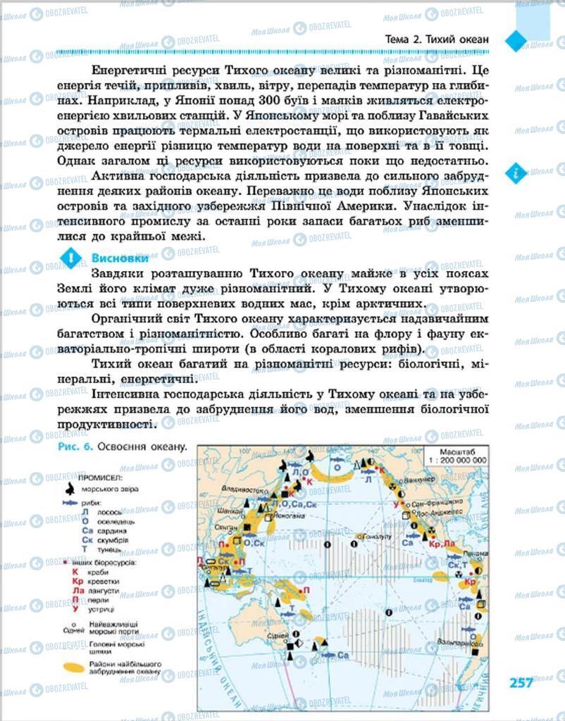 Підручники Географія 7 клас сторінка 257