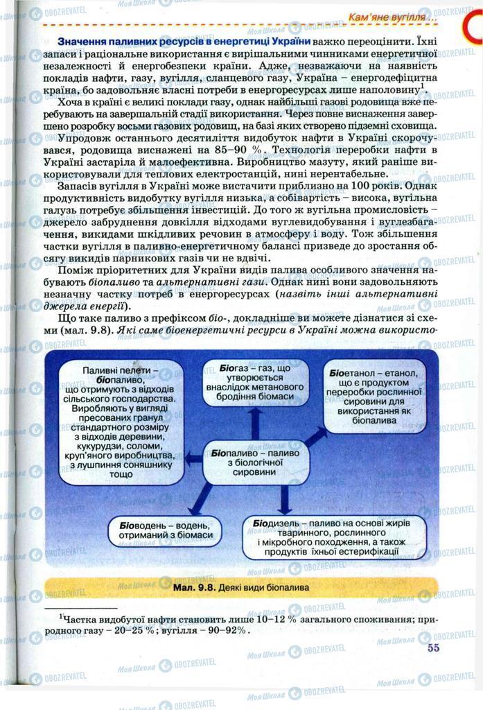 Підручники Хімія 11 клас сторінка 55