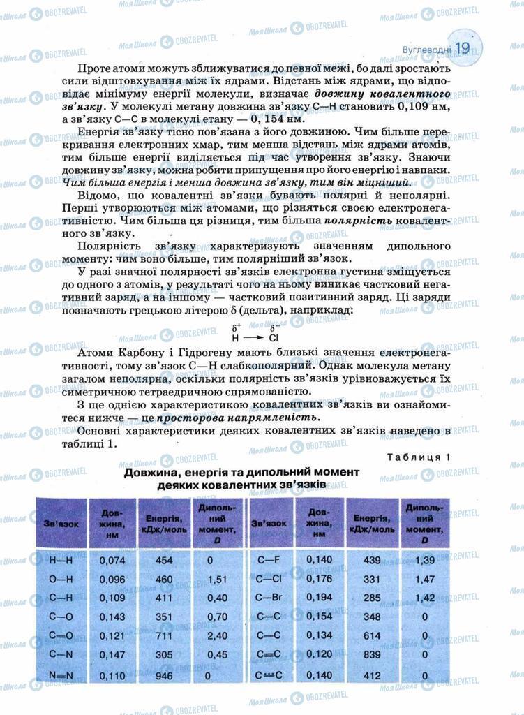 Підручники Хімія 11 клас сторінка 19