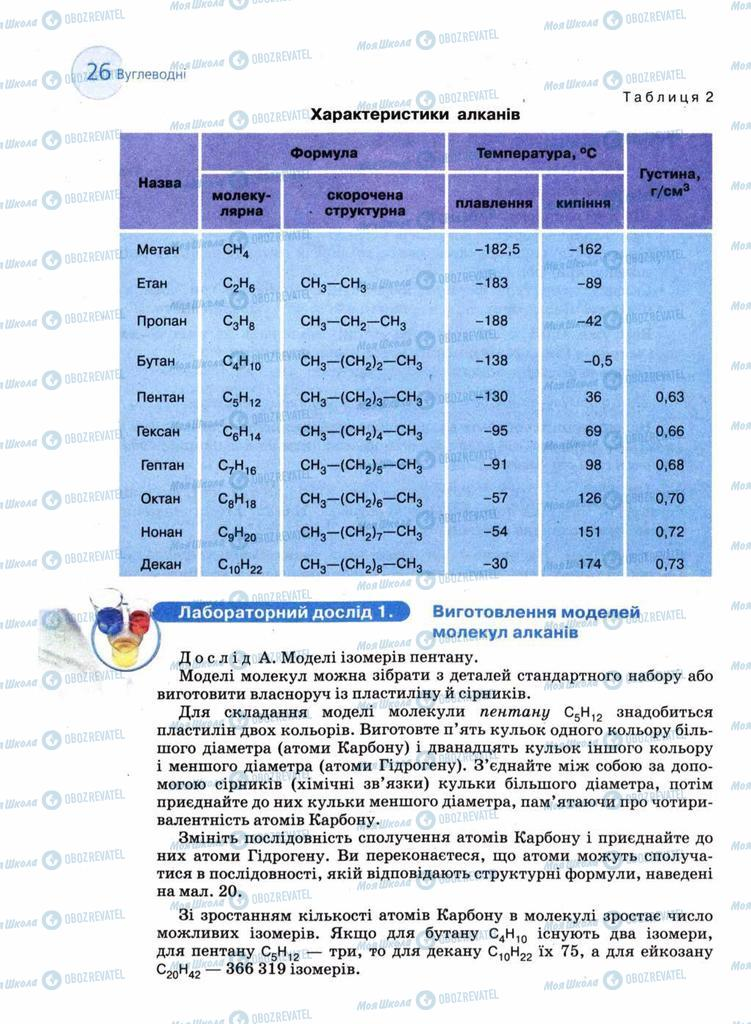 Підручники Хімія 11 клас сторінка 26