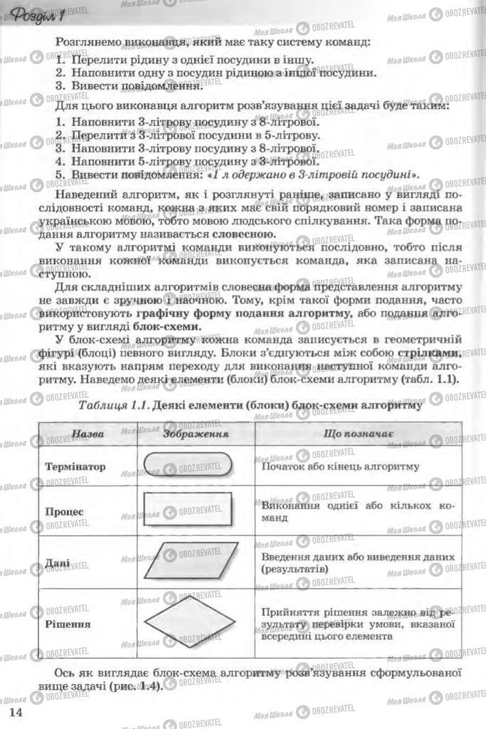 Учебники Информатика 11 класс страница 14