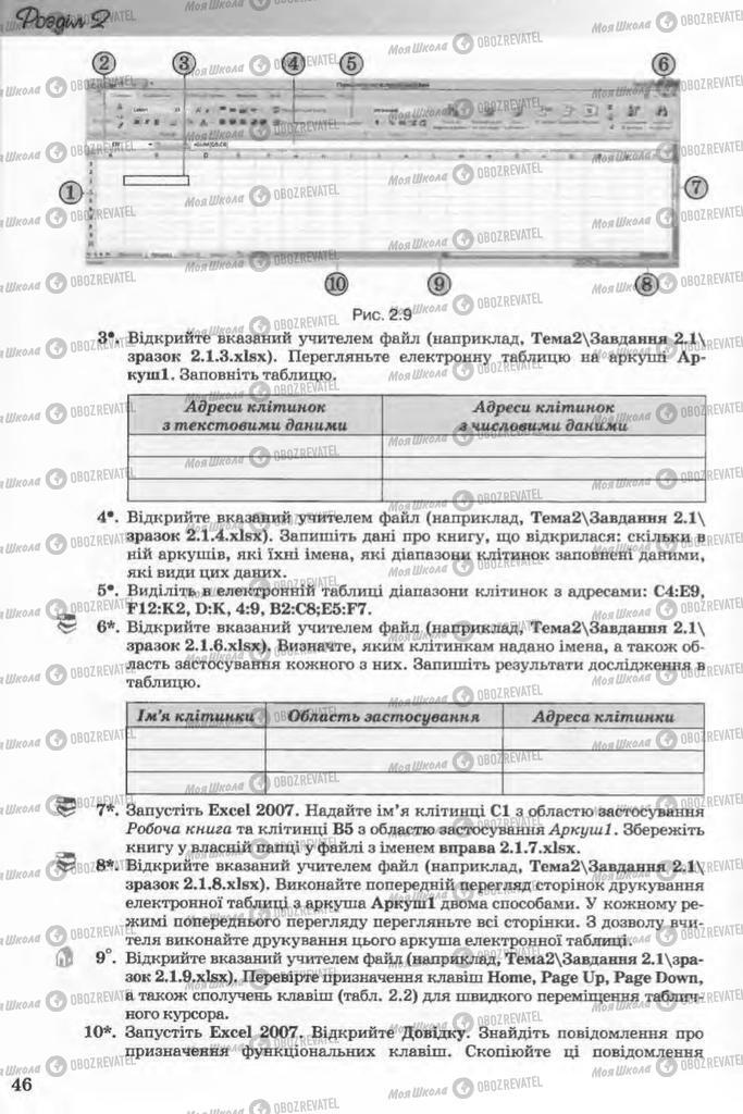 Підручники Інформатика 11 клас сторінка 46