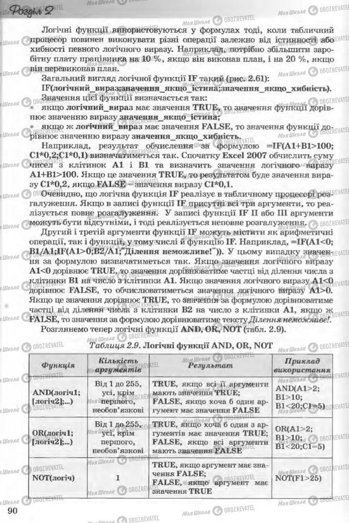 Підручники Інформатика 11 клас сторінка 90