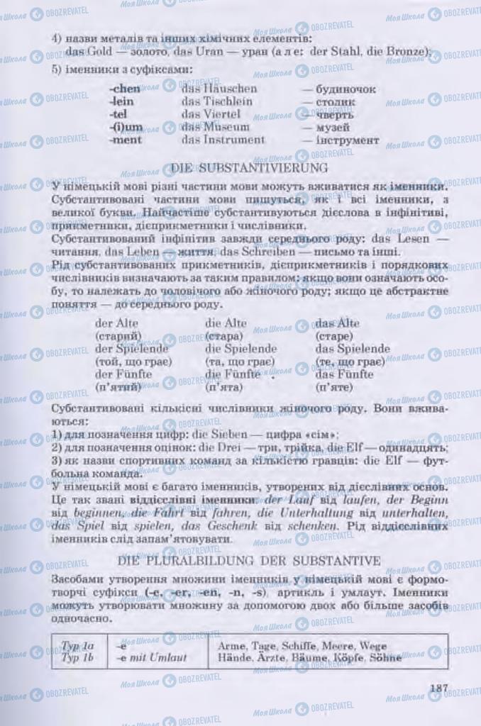 Підручники Німецька мова 11 клас сторінка 187