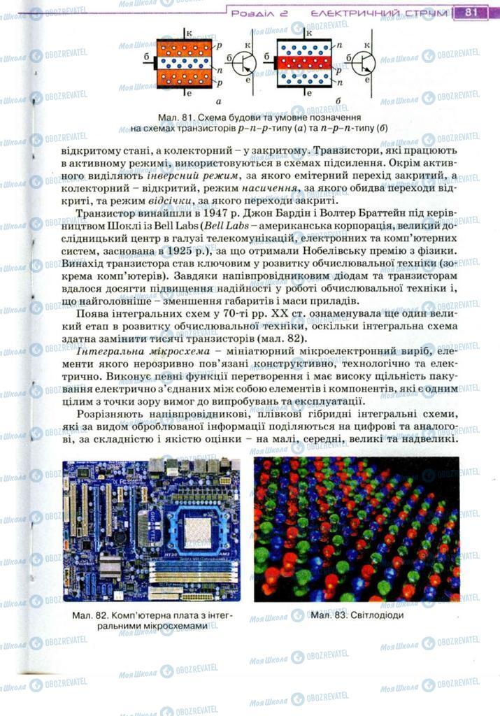 Підручники Фізика 11 клас сторінка 81