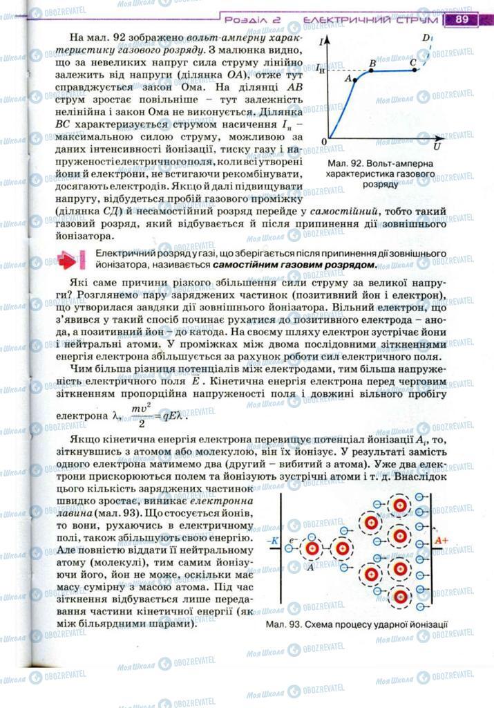 Підручники Фізика 11 клас сторінка 89