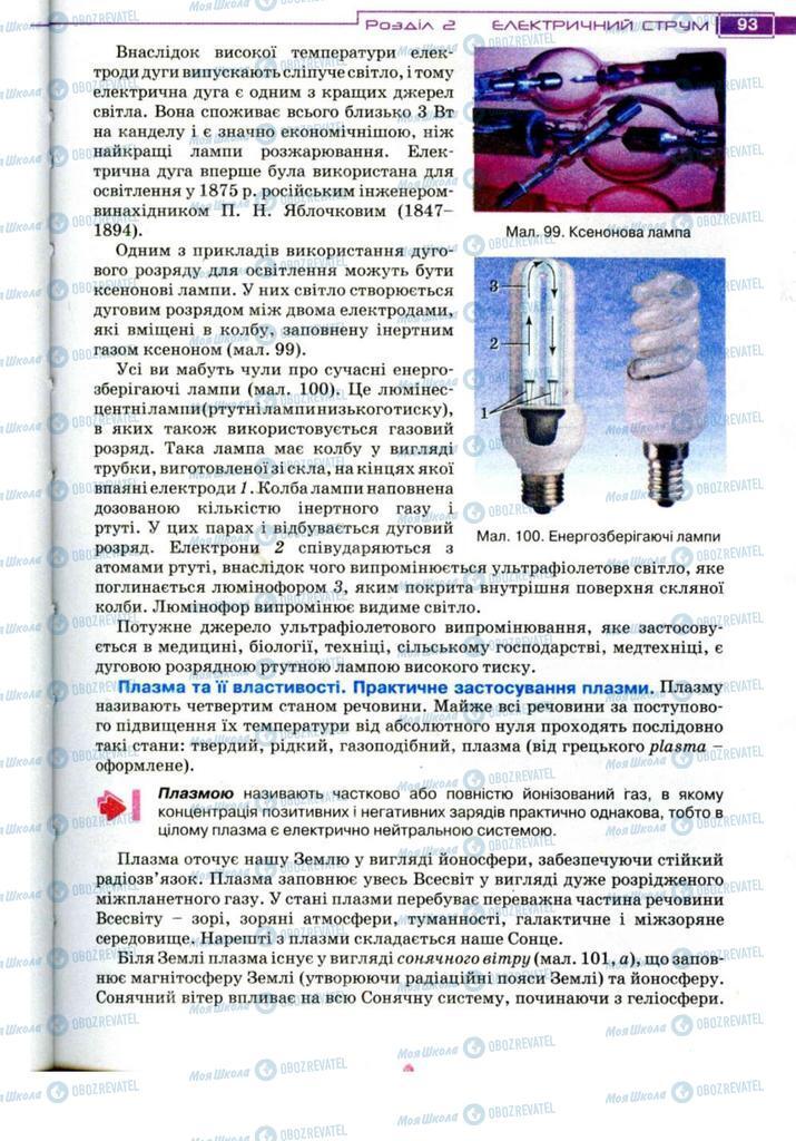 Підручники Фізика 11 клас сторінка 93