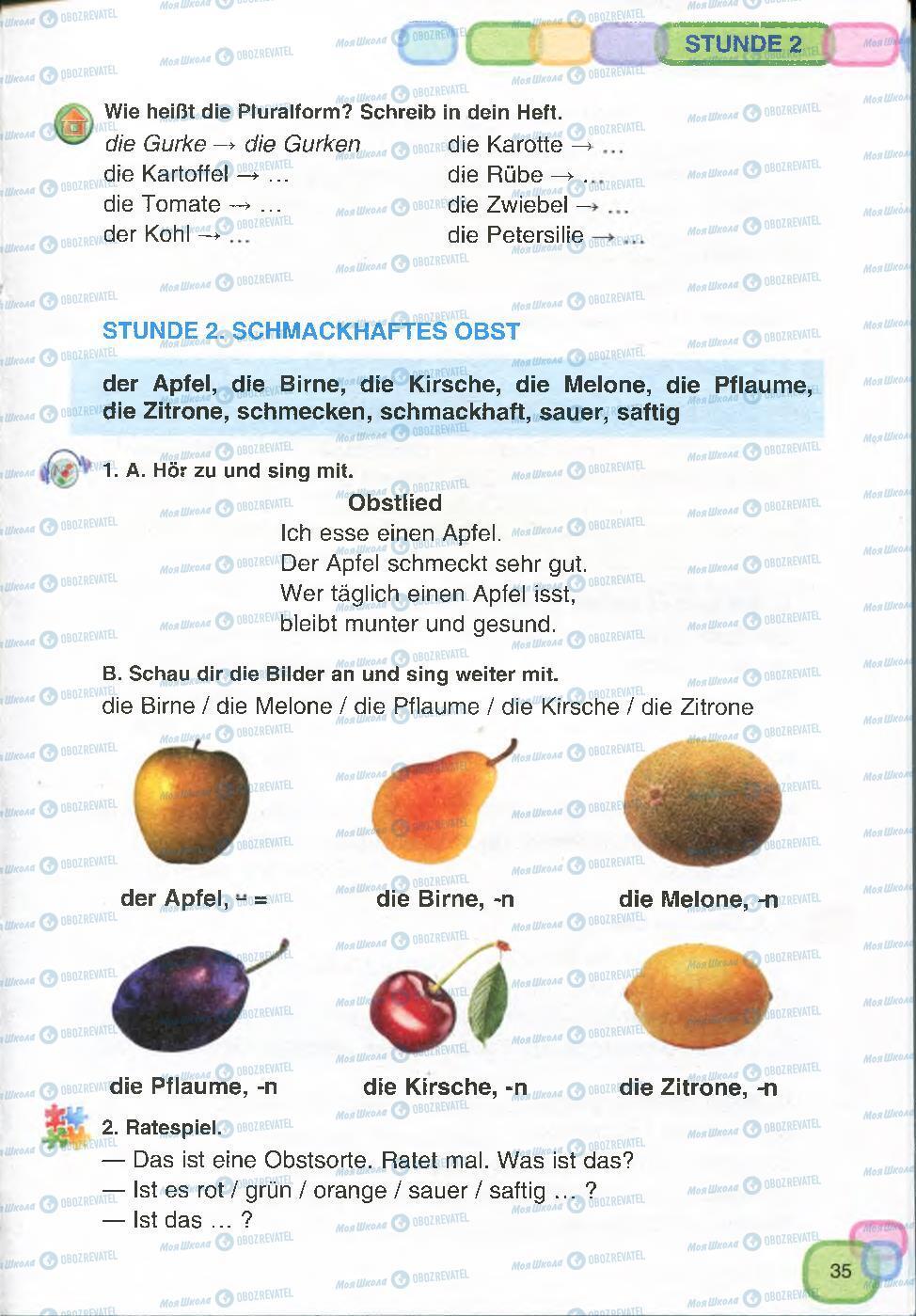 Підручники Німецька мова 7 клас сторінка 35