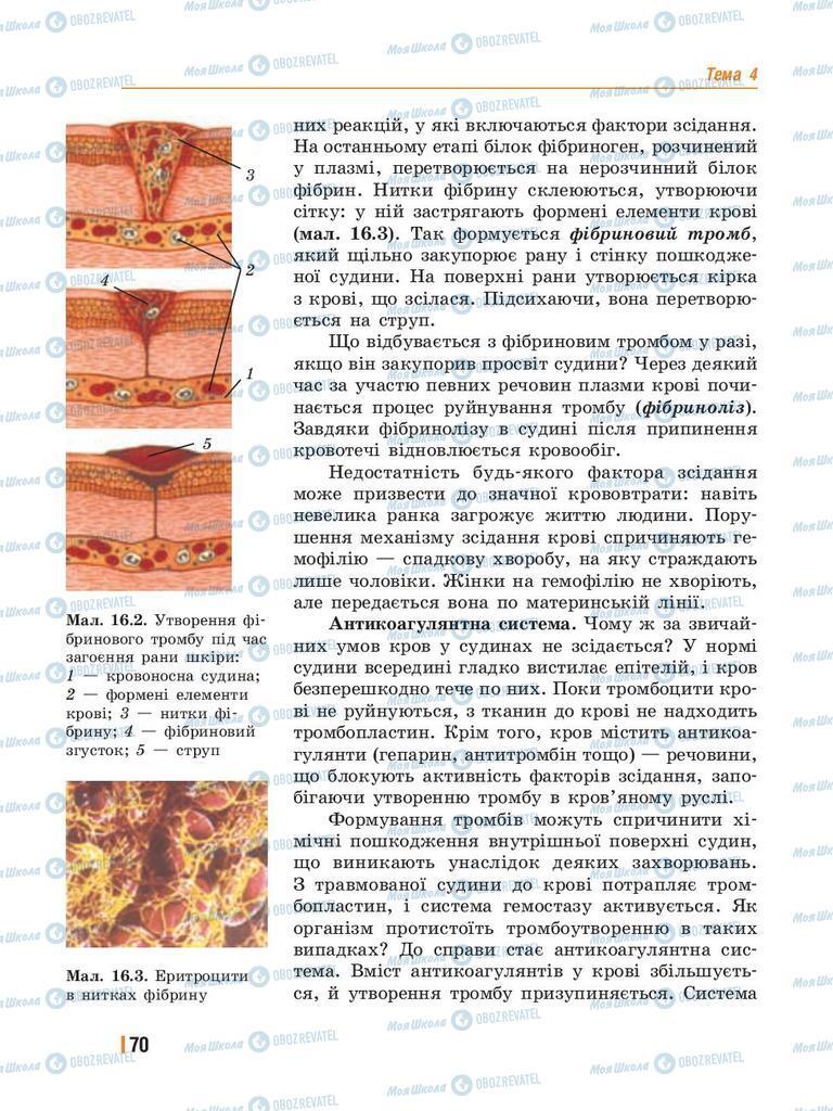 Учебники Биология 8 класс страница 70